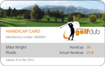 Golf Handicap Card